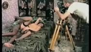 Boye needlemaster vintage set Interracial threesome on set