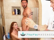 Redhead Lacy Lennon Almost Caught Cheating- NuruMassage