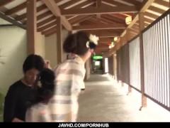 Aoi Mizuno Deals 2 Beefsticks In Asian Threesome