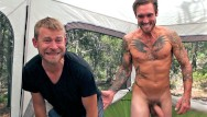 Gay art business trip Do i still have cum on my face - camping trip leads to cum eating