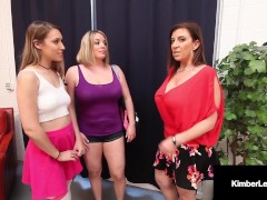 Sweet Youthfull Honey Kimber Lee Has Cooch 3 Way With Sara Jay & Maggie Green!