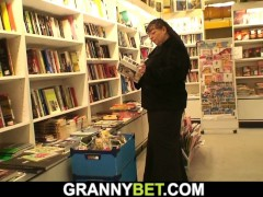 Lucky Dude Choices Up Gigantic Titties Bookworm Mature Nymph For Gash Play