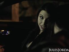 Jules Jordan - Tag Crew Couple Angela Milky & Ivy Lebelle Locate Darkish Meat