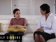 Family Sinners - Latina Step-mother Screws Smallish Stepson