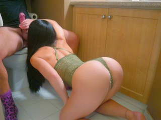 Step-Sister gets fucked in her parent's bathroom
