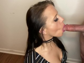 Blew a thick load in her mouth