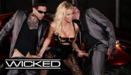 Hand held facial sauna Jessica drake takes facials from 2 dicks - wicked pictures