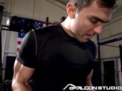 Roman Todd Face Screwed On Exercise Bench - Falconstudios