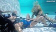 Lesbian lesbos - Hot lesbo teens in the swimming pool licking and masturbating