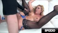 Hugw white dicks Super slut cherie deville gets her face and pussy punished by huge cock