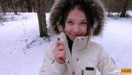 Sex tubes pretty I love quick sex outdoors even in winter - cum on my pretty face pov