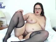 Hairy BBW in Pantyhose & Stockings - Katy Churchill Nylons Dildo Curvy Bush
