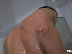 Hot Suited Guy Jerking Off & Ass Play