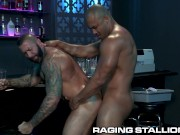Hunky Tattooed Bartenders Fuck After Bar Closes - RagingStallion