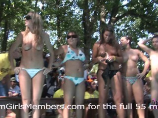 Wet Body Contest At Nudist Resort Gets Crazy & Everyone Gets Naked