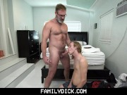 Ginger Twink Stepson Blows His Bear Stepdad