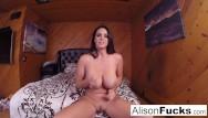 Heavy set girls nude Alison walks around set then masturbates