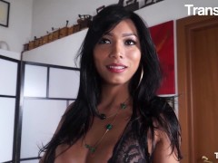 Trans Bella - Geil Tranny Gets Fucked In Her Tight Ass And Receives Cum