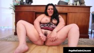 Plump daphne pussy Busty curvy cuban angelina castro dildo fucks her thick plump pussy