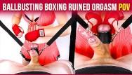 Vintage beer smurf money box Ballbusting boxing handjob balls torture ruined orgasm cbt pov era
