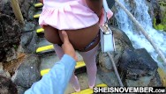 Gorilla squeezes girl ass - Ebony school girl black booty squeezed while at mini golf