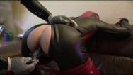 Rubber penis pants video Rubber slave girl piss pants mouthgag latex sheet breath control anal dildo