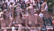 Smail nudists Exhibitionist wife wet t-shirt contest at a nudist resort