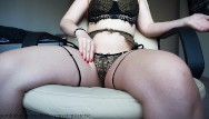 Cheap sexy underwear - Masturbation in a beautiful underwear from sexy girl