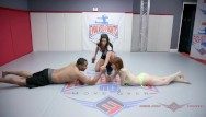 Girlswith hairy arms Alexa nova has limited chance in man vs women arm wrestling test