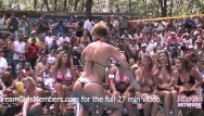 1990 s bikini contest Contest at nudist resort goes completely out of control