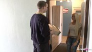 Skinny tiny titted teens - Mailman caught german teen tight tini masturbate and seduce fuck