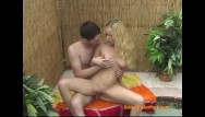 Blowjob free trailer Hot little blonde gets rammed outside by the pool