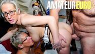 Horny mature xxx Xxx omas - two horny german gilfs seduce and fuck their client