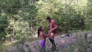 Bisque swinger - Argentina with great ass sucks my cock in a forest