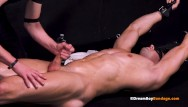 Muscle bound black gay cum - Hot straight muscle stud stretched milked by kinky bdsm master