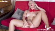 Sexy heel babes Sexy blonde elle hunter masturbates with dildo toy in torn pantyhose heels