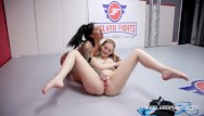 Thumb wreastling Lily lane vs maya kendrick pussy eating in dominant wrestling sex fight