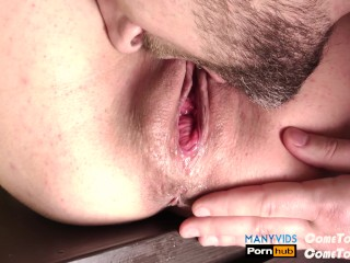 After cumshot licked her pulsing pussy until she peeped from pleasure (4K)
