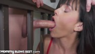 Brunette milf screaming while fucked - Mommyblowsbest - taking advantage of mom while shes stuck