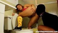 Spoiled brat femdom Femdom toilet traning: glory hole cleaner