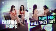 Sex tricks for guys to girls Sleazy af guy tricks babes into lesbian casting sex