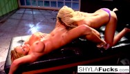 Nude b the pool Shyla stylez and bridgette b are a match