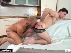 BROMO - Anal loving Muscular Sud get his hairy ass fucked