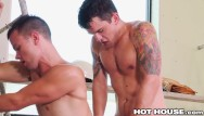 Construction gay hot man naked Young construction workers get wet sloppy at work