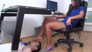 Erotic foot torture Girl foot torture for slaves