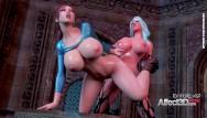 3d lesbian tranny 3d futanari fantasy aniamtion with big tits babes