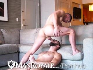 ManRoyale Fit Hottie Punishes Tight Ass Thong Hunk