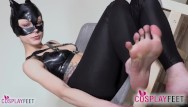 Fetish heel high sex Catwoman in high heels abuses your sexy foot fetish