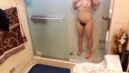 Kten hairy - Hairy teen taking a shower bush