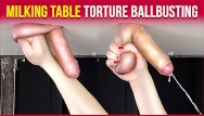 Gloryhole guys - Gloryhole milking table handjob torture with ruined orgasm era